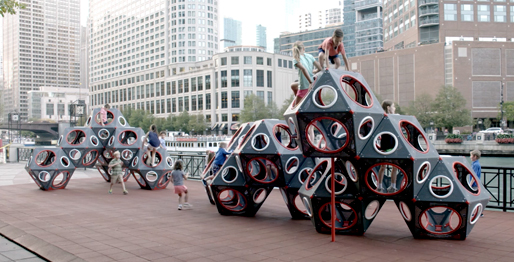VIDEO-PlayCubes-Metal-Chicago-Riverwalk
